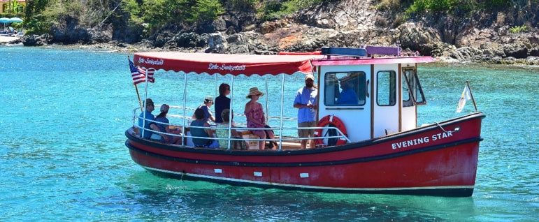 water shuttle in Saint Thomas USVI